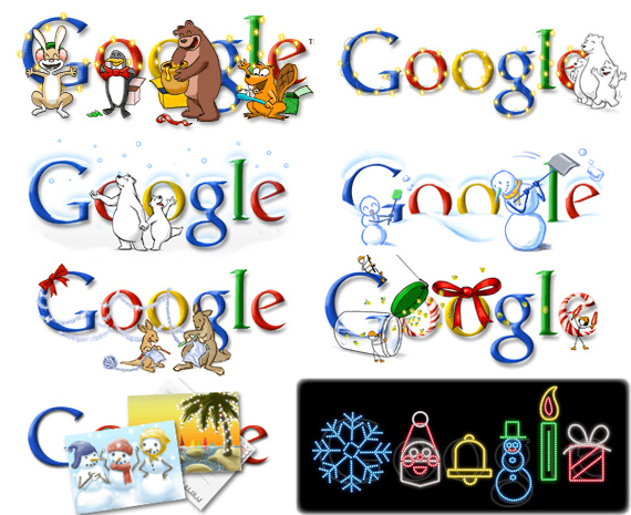 Christmas Google Doodles, Google Doodles, Happy Holidays Doodles