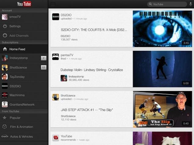 YouTube iOS App, YouTube iPad App, YouTube iPhone App