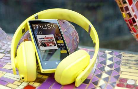 Nokia Music Service, Nokia Lumia
