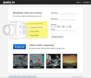 Justin.tv, Free Streaming, Live Video Broadcasts