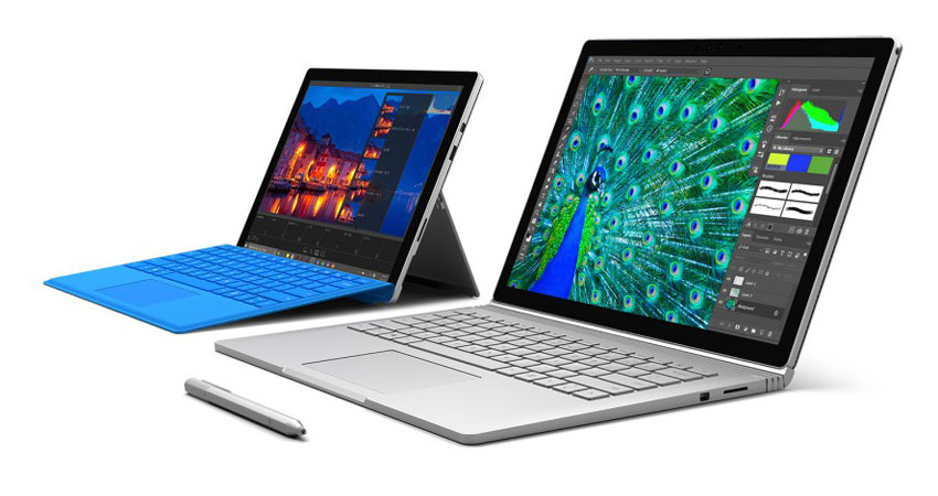 Microsoft Surface, Surface Book, Surface Pro 4