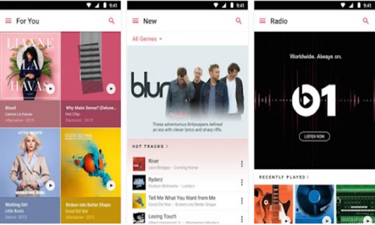 Apple Music, Google Play Store