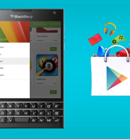 BlackBerry, Google Play Store